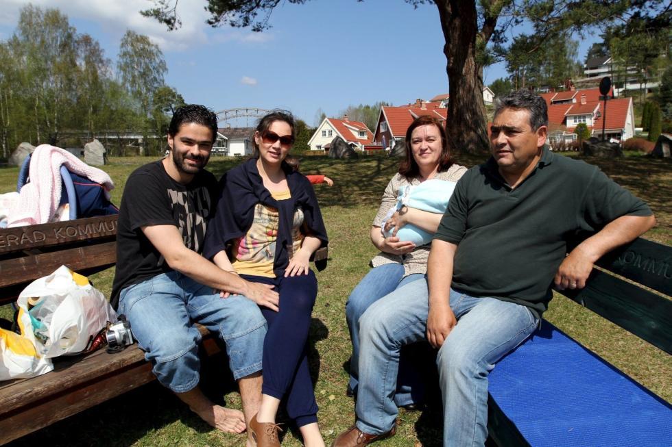 PÅ FAMILIETUR: F.v: Nuno Marques, Katia Marques, Sofia Bento og Carlos Bento.