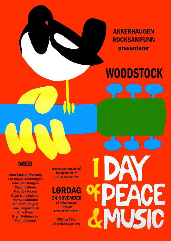 8aebd3e6 ... utvalg av låter og artister som spilte på den legendariske Woodstock  festivalen i 1969. Dette var en konsert som kom i stand fordi  Telemarksfestivalen ...